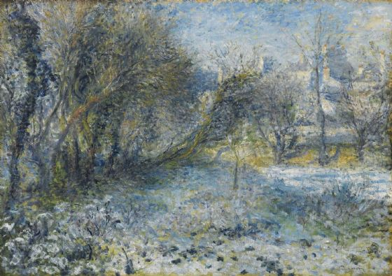 Renoir, Pierre Auguste: Snow Covered Landscape. Fine Art Print/Poster. Sizes: A4/A3/A2/A1 (004282)